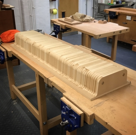 """The Mould for the new 56"""" tray - testing polymers for the new trays"""