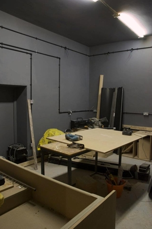 In progress - The darkroom under construction