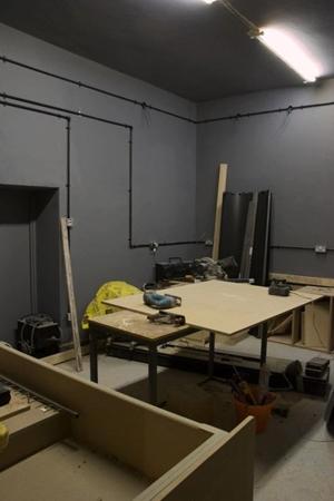 In progress - The darkroom under construction