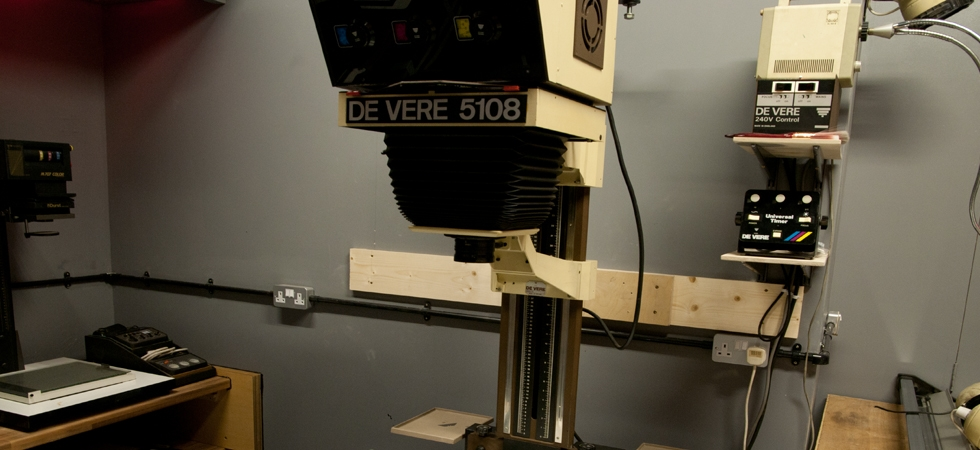 "Devere 5108 - this enlarger will print from 35mm to 10x8"" negative"