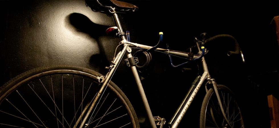 Bike rack in the entrance -