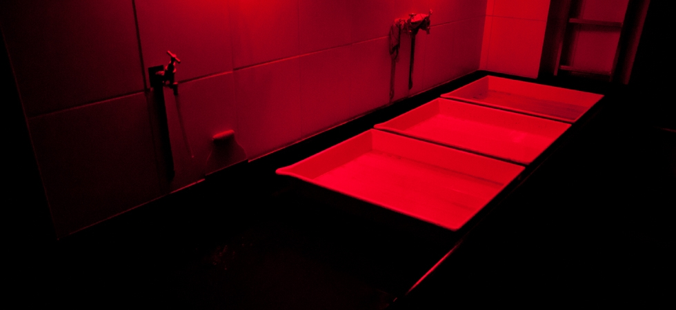 """20x24"""" Trays in the darkroom - lots of room for big printing"""