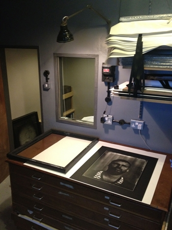 Print finishing - space and drawers for members to finish prints