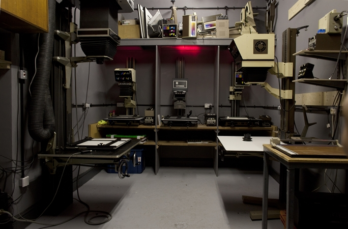 The Darkroom - lots of different enlargers to suit the needs of the individual